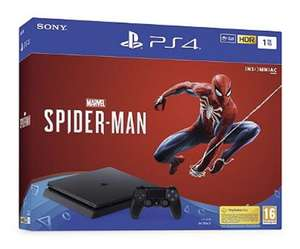 Console Sony PS4 1To F Black + Marvel's  Spiderman (Via 87.25€ en Bons d'achat) - Tours-Nord (37)