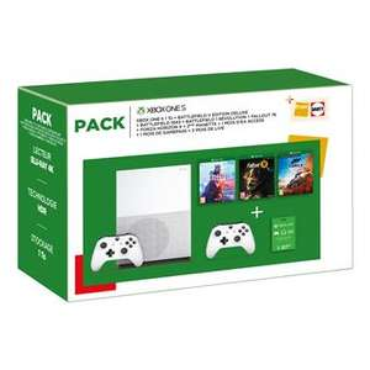 Xbox One S 1To + 2 Manettes + Battlefield V Edition Deluxe + Battlefield 1943 + Battlefield 1 Révolution + Fallout 76 + Forza Horizon 4 +...