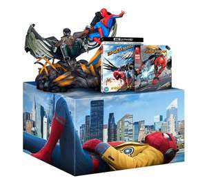 Coffret Blue-Ray Spider-Man Homecoming Édition Collector - 4K Ultra HD + Figurine + Comics