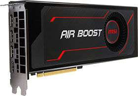 Carte graphique MSI Radeon RX Vega 56 Air Boost, 8 Go HBM2 + 3 jeux (338.31€ avec le code SANTA)