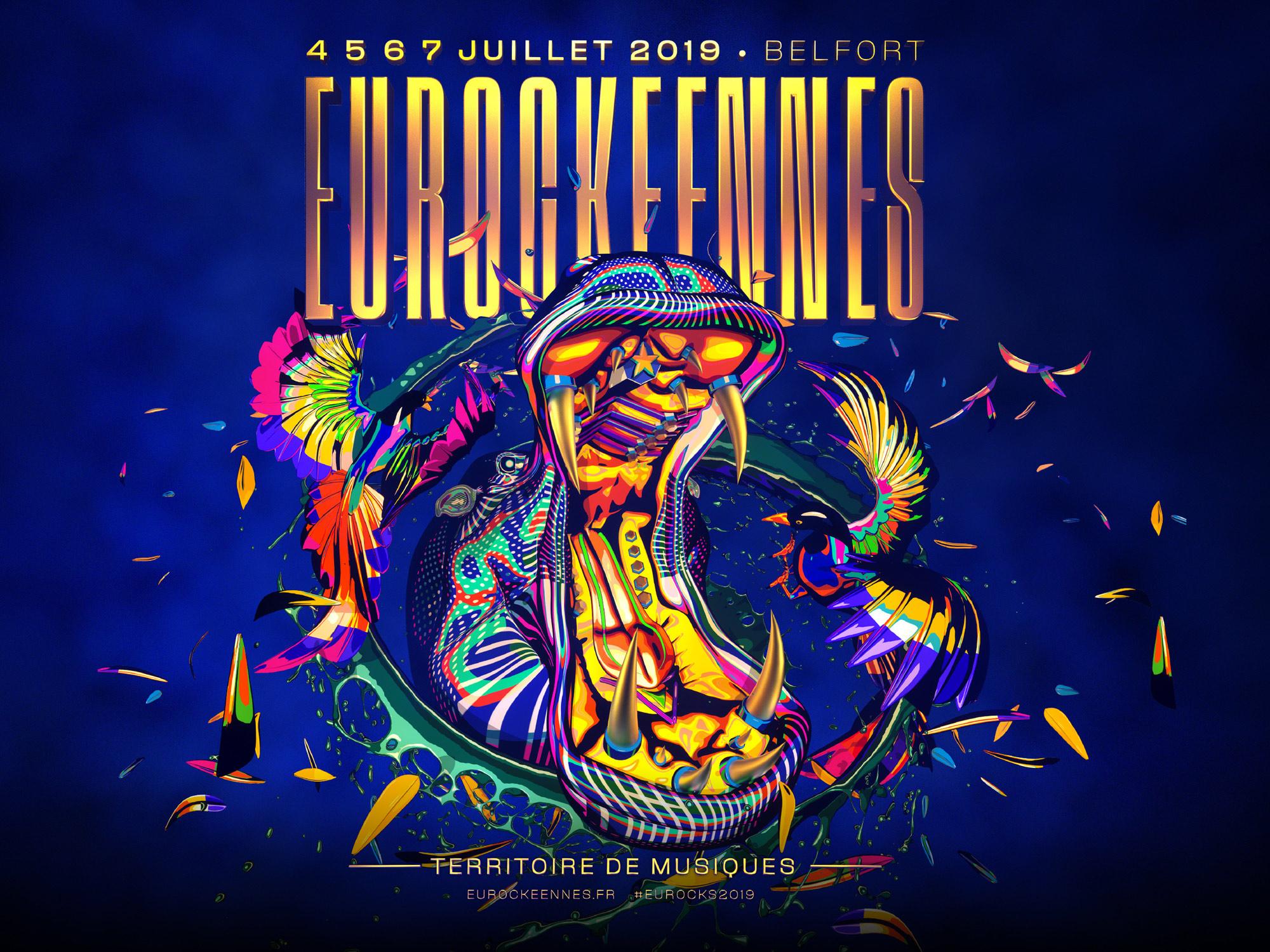Pass de 4 jours Eurockéennes du 4 au 7 Juillet 2019 à Belfort (Offre de lancement)