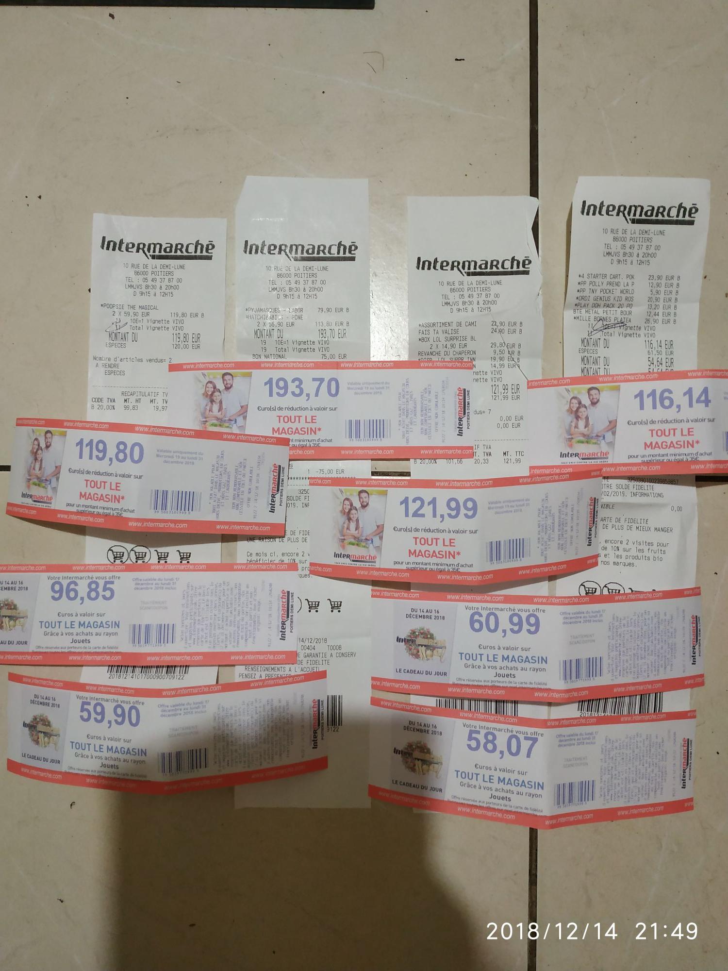 Sélection de jouets 100% remboursés en bons d'achats - Intermarche demi lune poitiers (86)