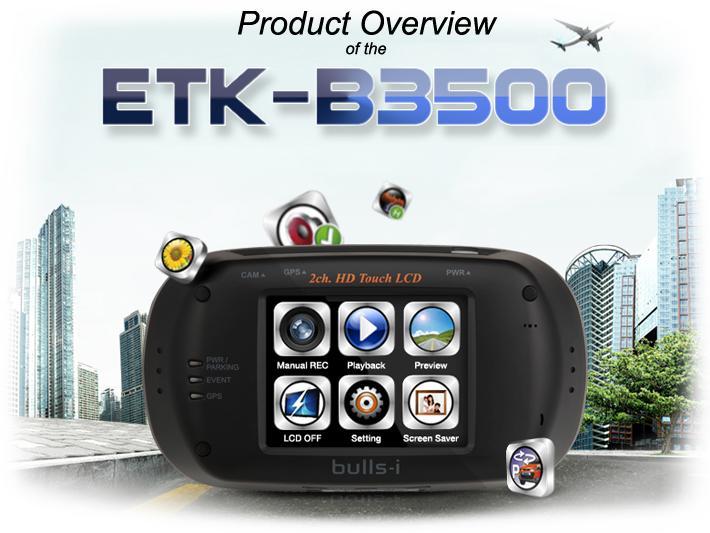 ETK-B3500 - Enregistreur video pour voiture (DVR)