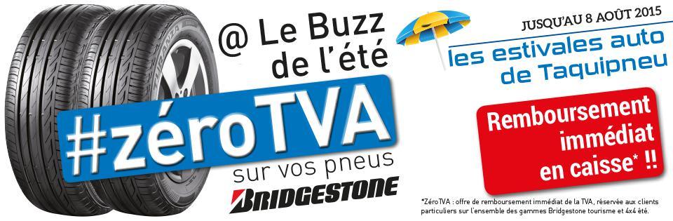 Remboursement de la TVA immédiatement en caisse sur l'ensemble des gammes Bridgestone