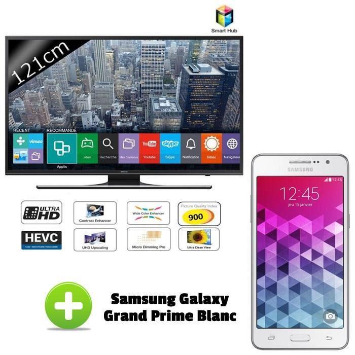 Smartphone Samsung Galaxy grand Prime offert pour l'achat d'une TV 4K