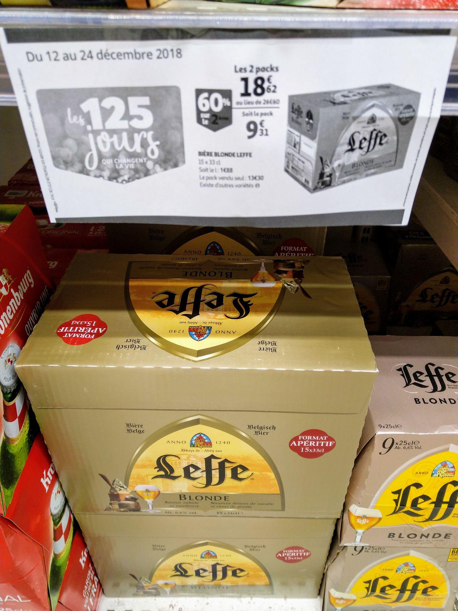 Lot de 2 packs de 15 bières Leffe (30 x 33 cl) - Noisy-le-Grand (93)