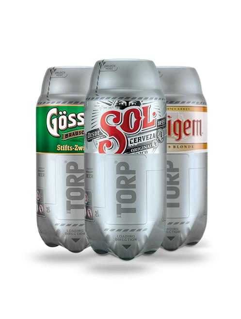 Pack de 3*2L de Bière Torp - Gösser Zwickl  + Affligem Blonde + Sol