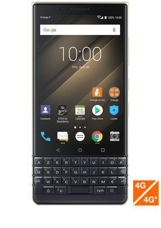 Smartphone Blackberry Key2 LE - dual sim, 64 Go, 4 Go de ram, bleu champagne