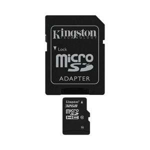 Carte mémoire Micro SDHC Kingston classe 10 - 32 Go + Adaptateur