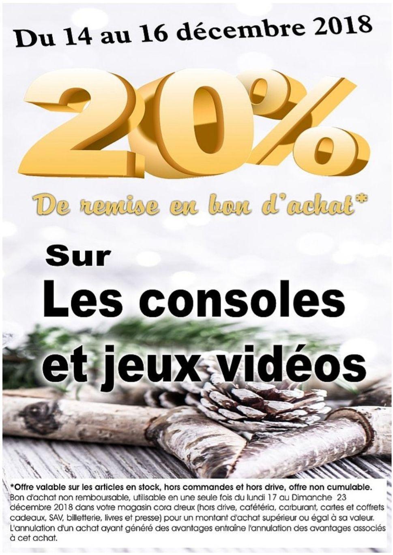 20% de réduction en bon d'achat sur les  jeux vidéo et consoles de jeux - Dreux (28)