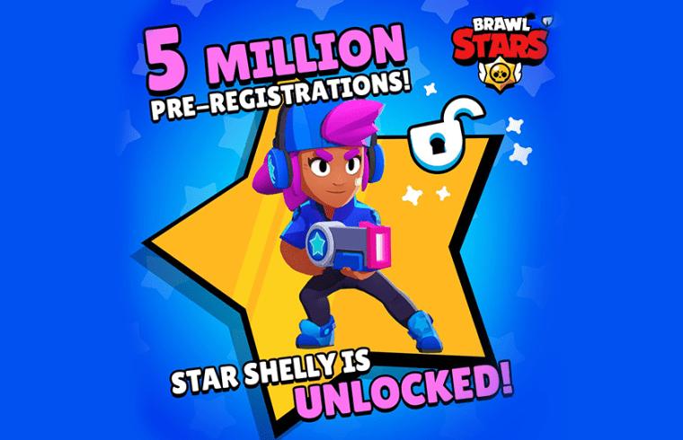 Skin Shelly Star gratuit sur Brawl Stars pour toutes connexions sur le jeu avant 2019
