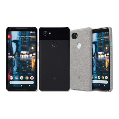 "Smartphone 6"" Google Pixel 2 XL - QHD+, SnapDragon 835, 4 Go de RAM, 64 Go, Noir ou Blanc + Coque de protection en tissu"
