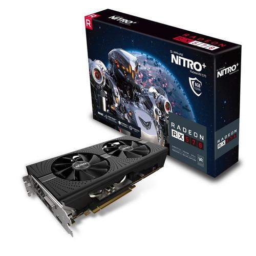 Carte graphique Sapphire Radeon RX 570 NITRO+, 8 Go + 2 Jeux Offerts