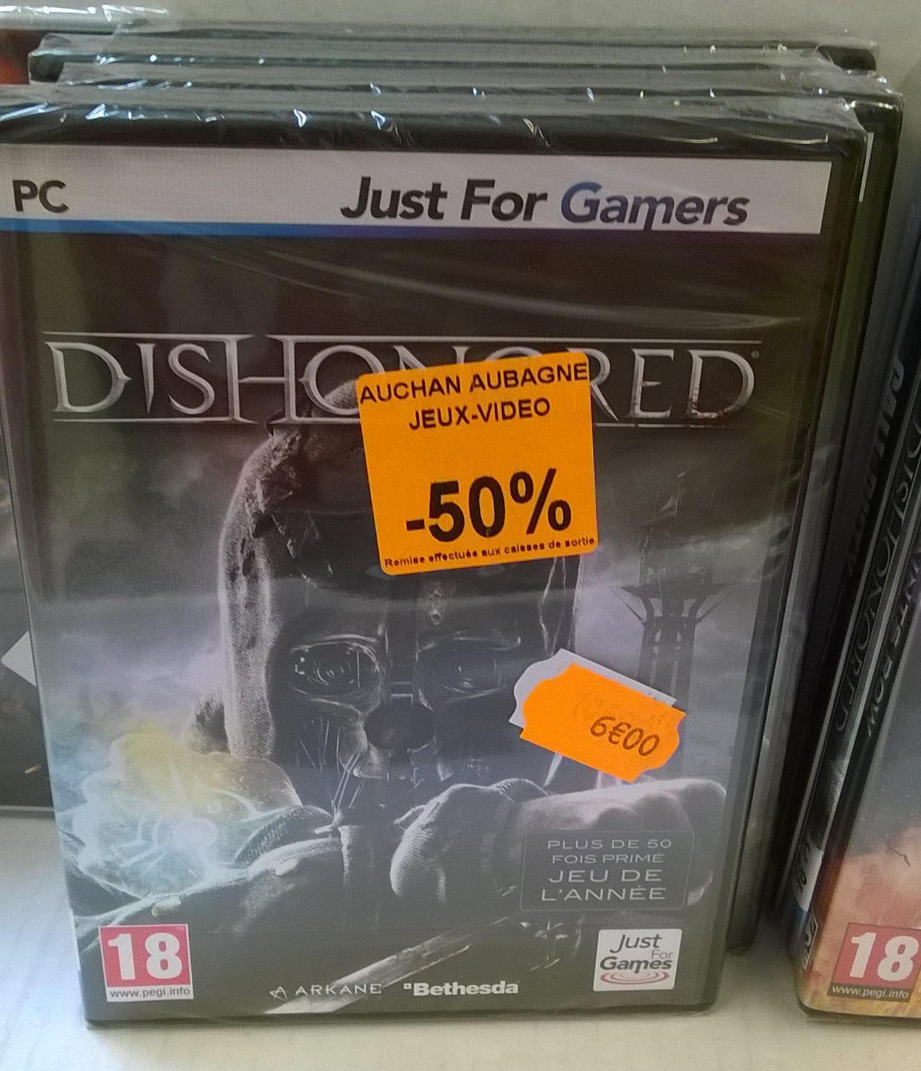 Sélection de jeux PC à -50% - Ex : Dishonored