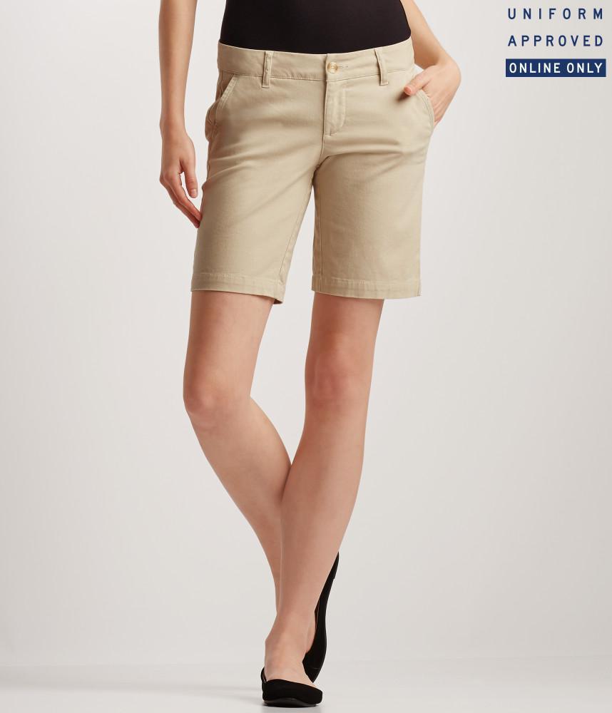 Bermuda Femme Aeropostale - Coloris ecru ou beige (Tailles XS à L)