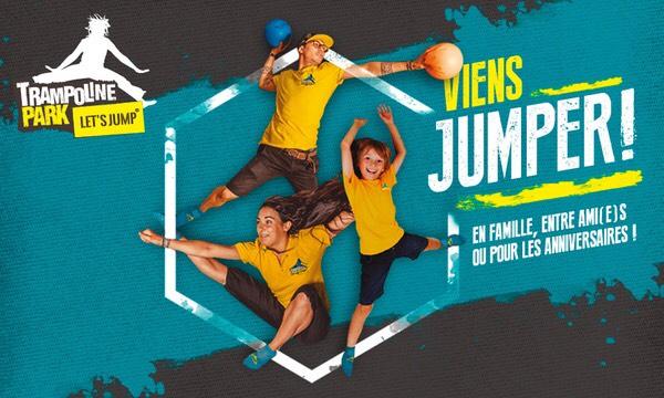 Entrée d'une heure au Let's Jump trampoline Park - Lieu à choisir