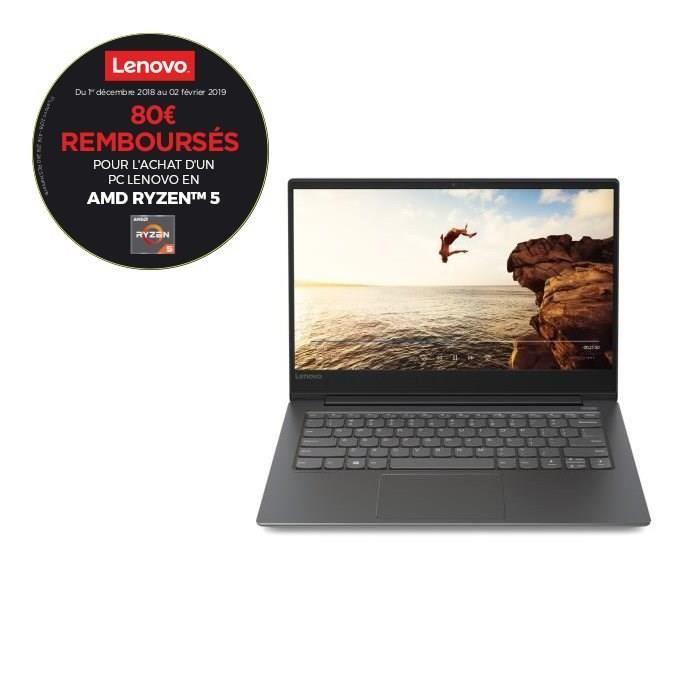 "PC Portable Ultrabook Lenovo Ideapad 530S - 14"" FHD - AMD Ryzen 5 - RAM 8Go - Stockage 256Go SSD - AMD Radeon Vega 8 - Windows 10"