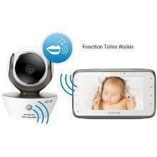"Babyphone Vidéo 4.3"" Motorola MBP854 Connect - Wi-Fi - Blanc"