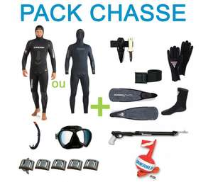 Pack complet chasse sous marine 7mm - Loisirs3000.fr