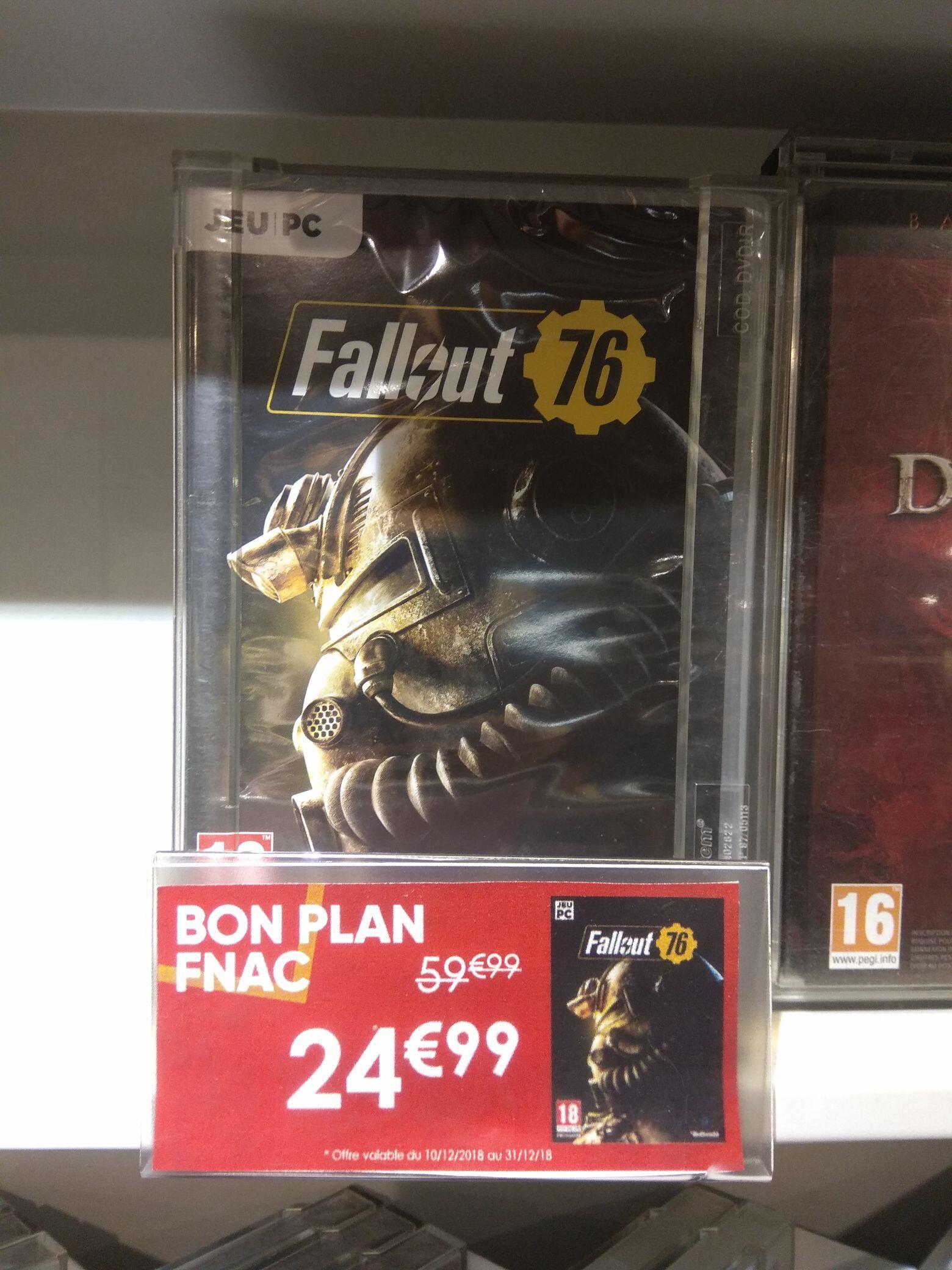 Fallout 76 sur PC, PS4 et Xbox One (Paris-Ternes75)