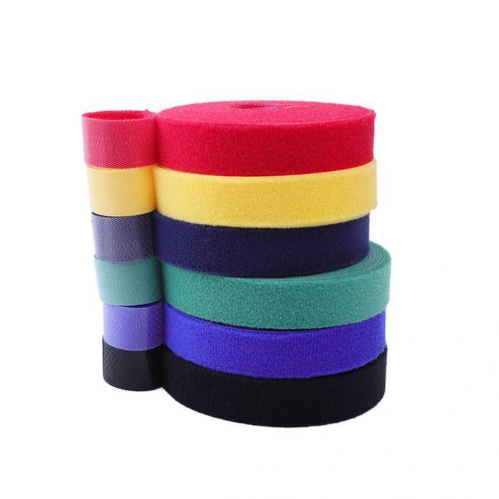 Lot de 2 rouleaux d'Attache de câble réutilisable - 5 m en nylon, coloris aléatoire (Frais de port inclus)