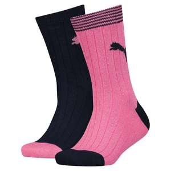 Lot de 2 paires de chaussettes Puma Graphic Camo ou Lurex - du 27 au 38