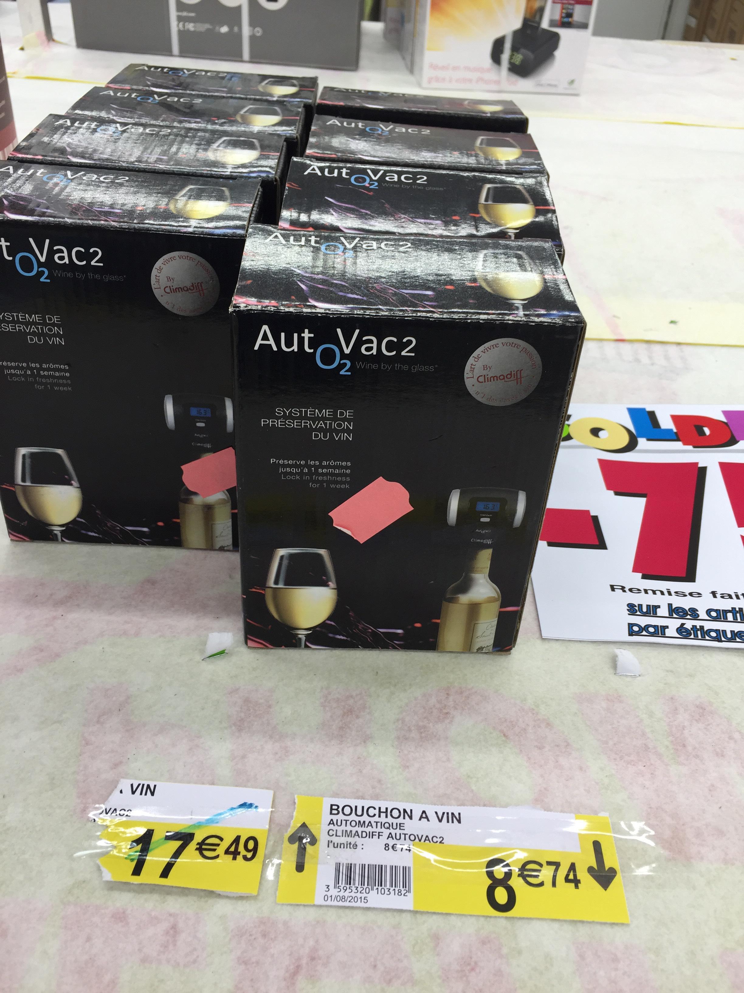Bouchon à vin Autovac 2 - Indicateur température