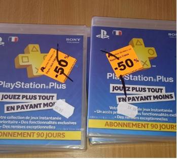 Abonnement 3 mois au Playstation Plus