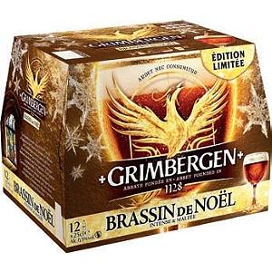 Pack de Bières en promotion - Ex: Grimbergen Brassin de noël - 12 x 25 cl