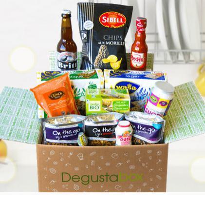 1 mois d'abonnement à la box gourmande Degustabox
