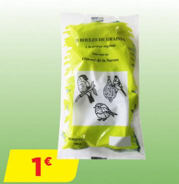 Sachet de 10 boules de graisse pour oiseaux