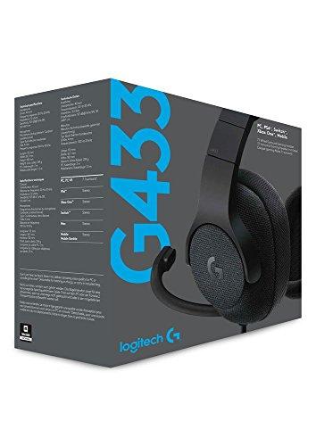 Casque Gaming Filaire Logitech G433 - Son Surround 7.1 (Noir)