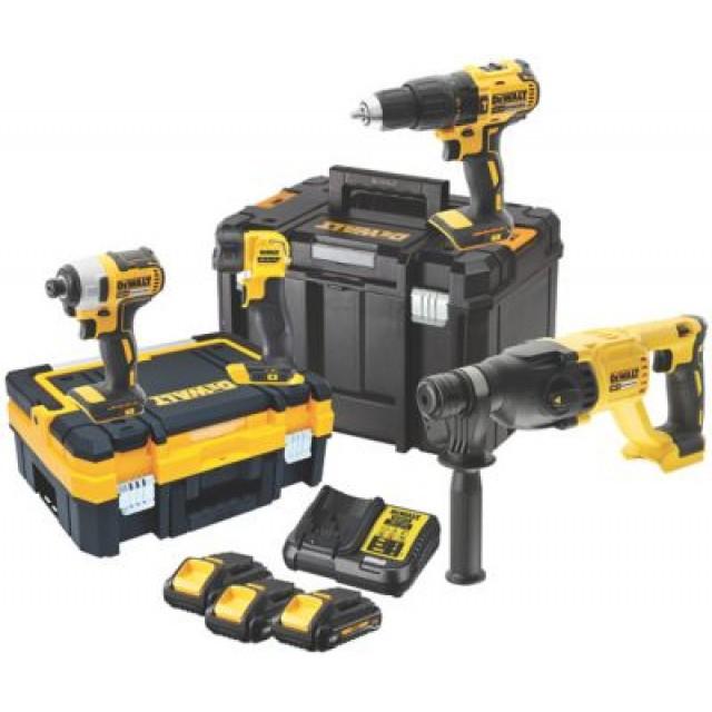Coffret d'outils sans-fil DeWalt DCK440L3T - avec 3 batteries (3.0 Ah) et chargeur