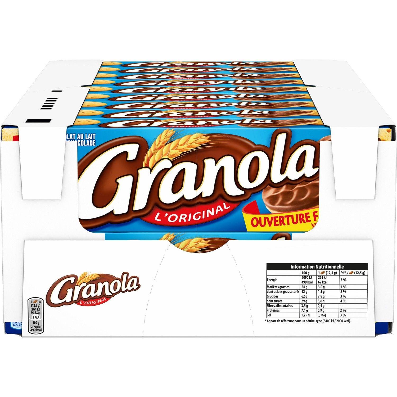 Lot de 18 boîtes de Biscuits chocolat au lait Granola - 18 x 200g (via 15.07€ sur la carte fidelité) - Carrefour Drive chambery (73)