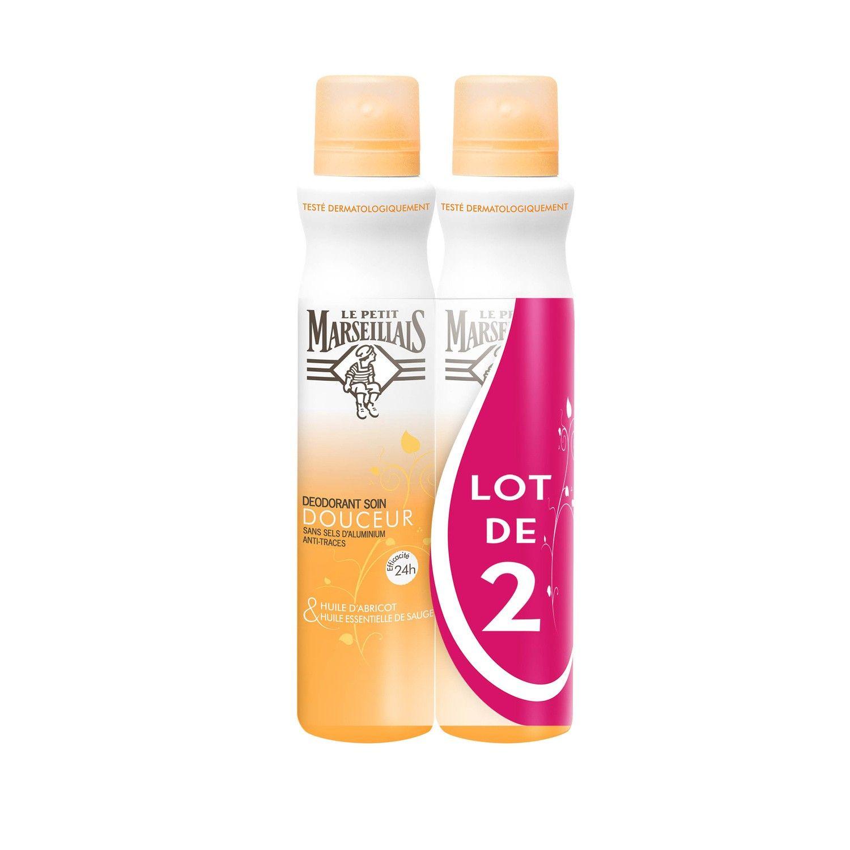 Déodorant huile d'abricot sauge Le petit marseillais (via 4.14€ fidélité) - Carrefour drive Chambéry (73)