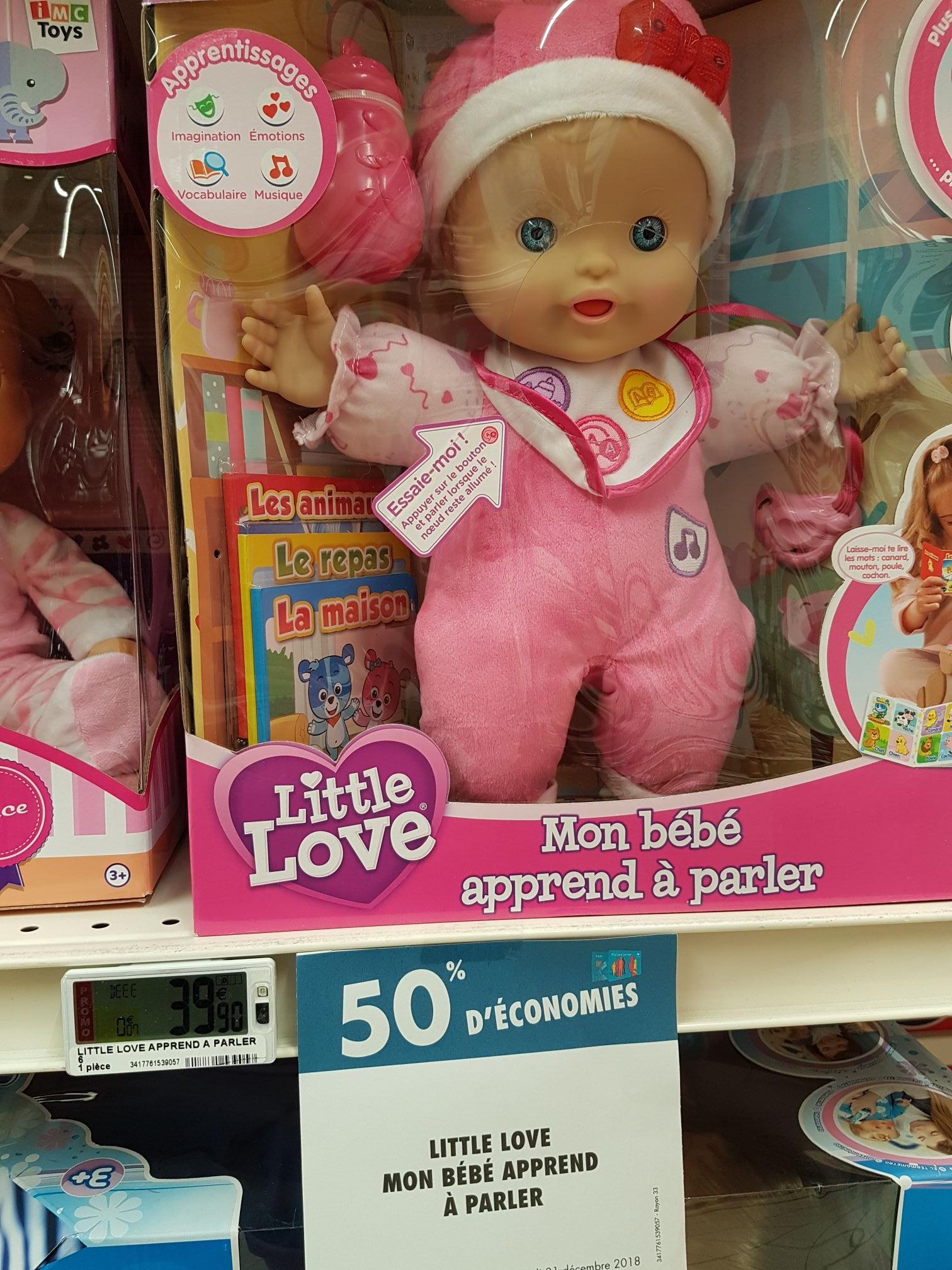 Sélection de jouets en promotion - Ex : Poupon Bebe Little love (via 19.95€ fidélité) - Carrefour bayeux (14)
