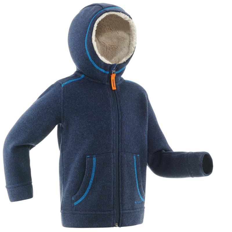 Polaire de randonnée neige pour enfant Quechua Junior SH100 Warm - différents coloris (du 2 au 6 ans)