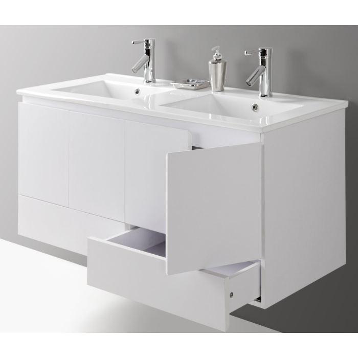 ensemble salle de bain double vasque Venus 120 cm (Livré entièrement monté)