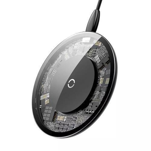 Chargeur sans-fil à Induction - Transparent (10W) + Câble USB