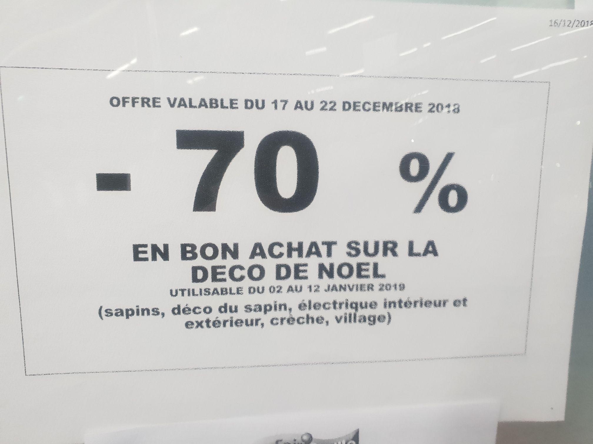 70% offerts en Bon d'achat sur la décoration de Noël - Lexy (54)