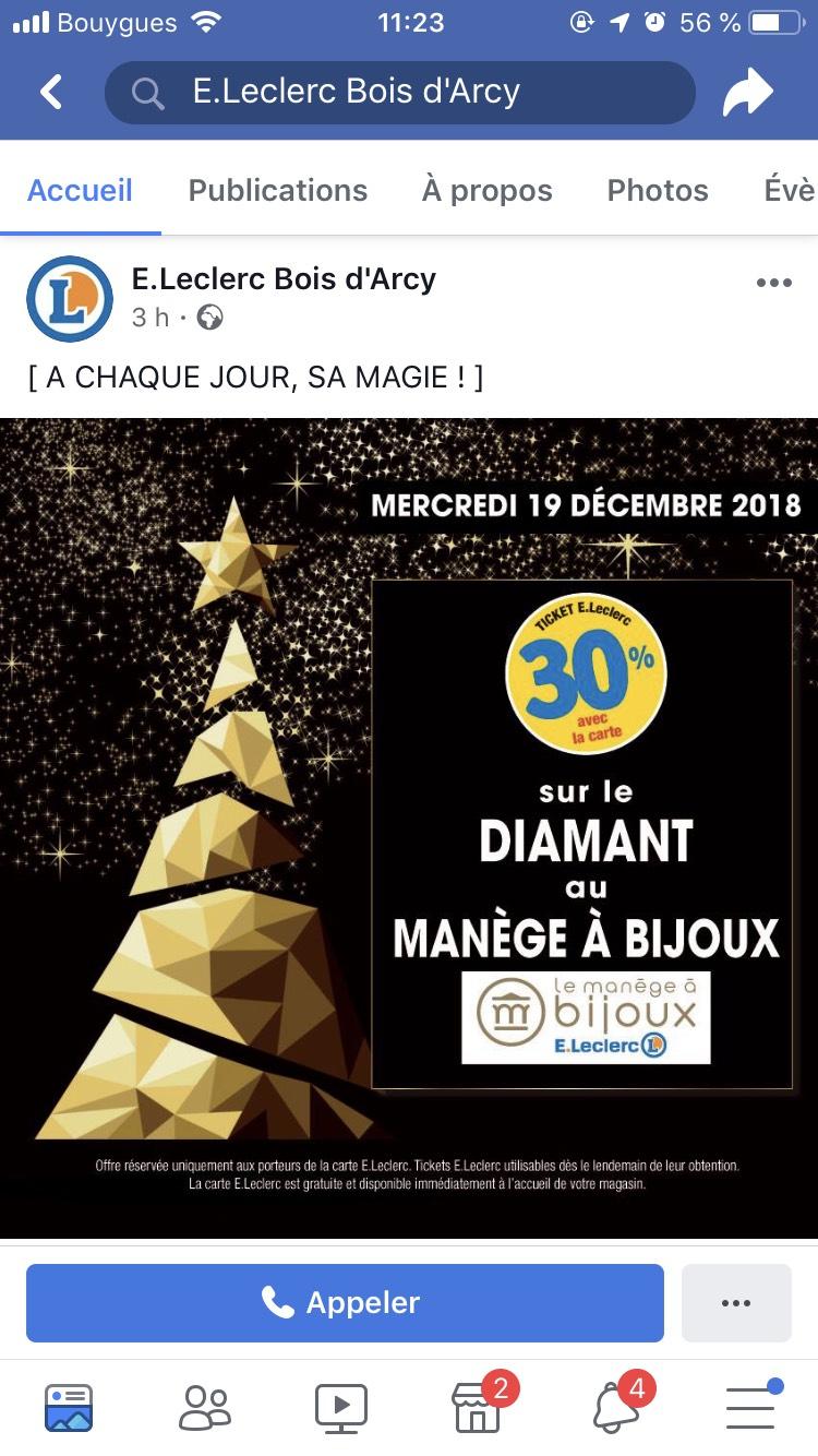 30% remboursés en bons d'achats sur les Diamants - Bois-d'Arcy (78)