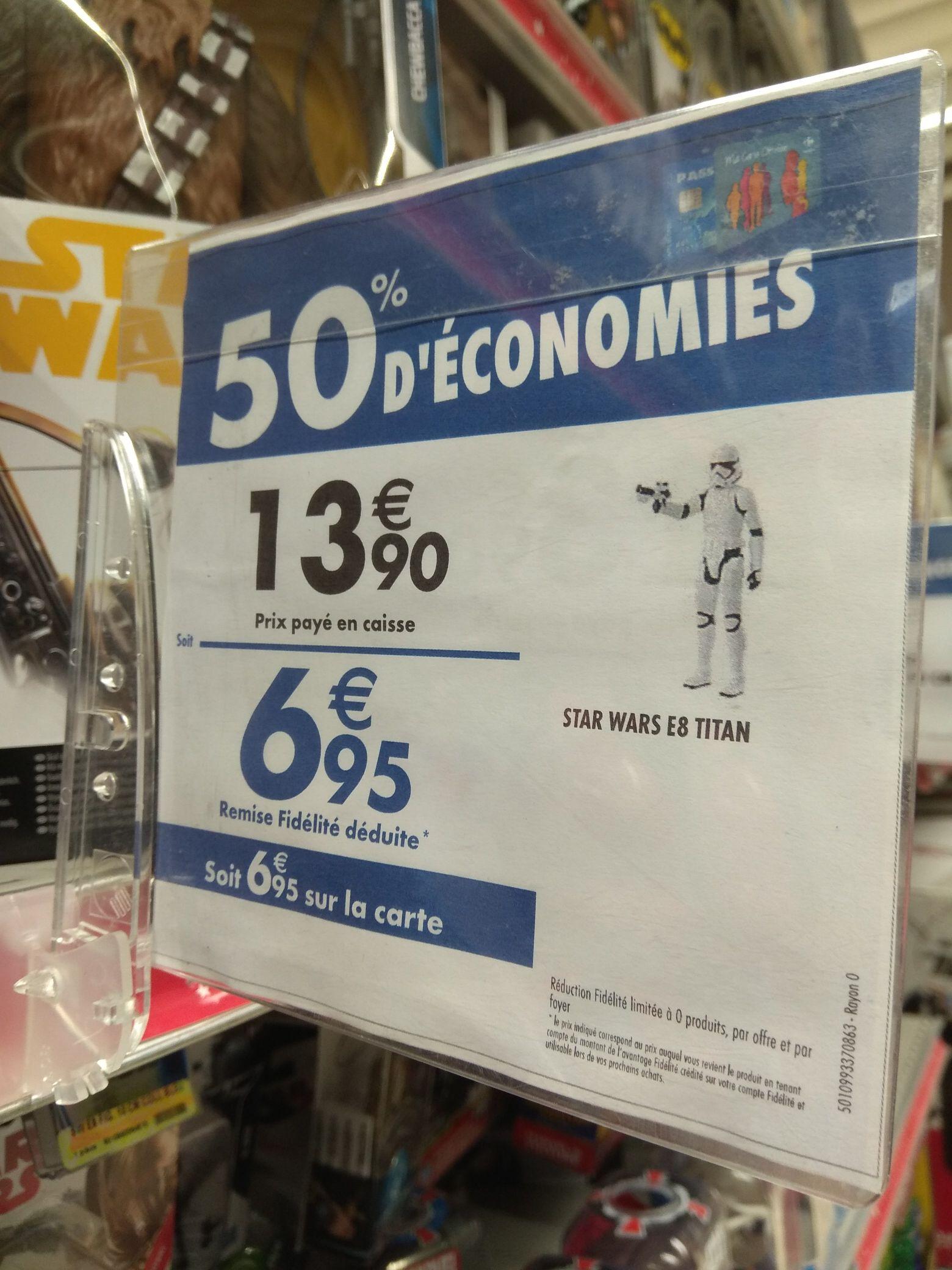 50% crédités sur la carte de fidélité sur une sélection de jouets - Ex: figurine Star Wars E8 Titan (via 6.95€ en fidélité) - Wasquehal (59)