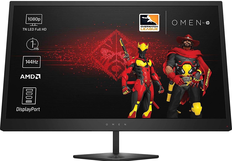 """Écran PC 25"""" Omen by HP 25 - Full HD, 144Hz, Reconditionné à neuf"""