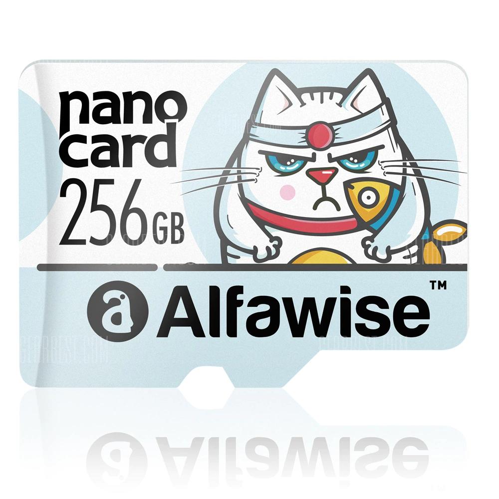 Carte microSD Alfawise Classe 10 - 256 Go à 37.29€ / 128 Go à 15.09€ / 64 Go à 8€ / 32 Go à 3.29€