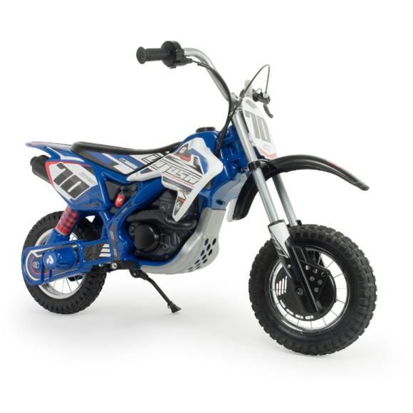 Moto Cross électrique Injusa pour enfant - 24V - Blue Fighter-Bleu