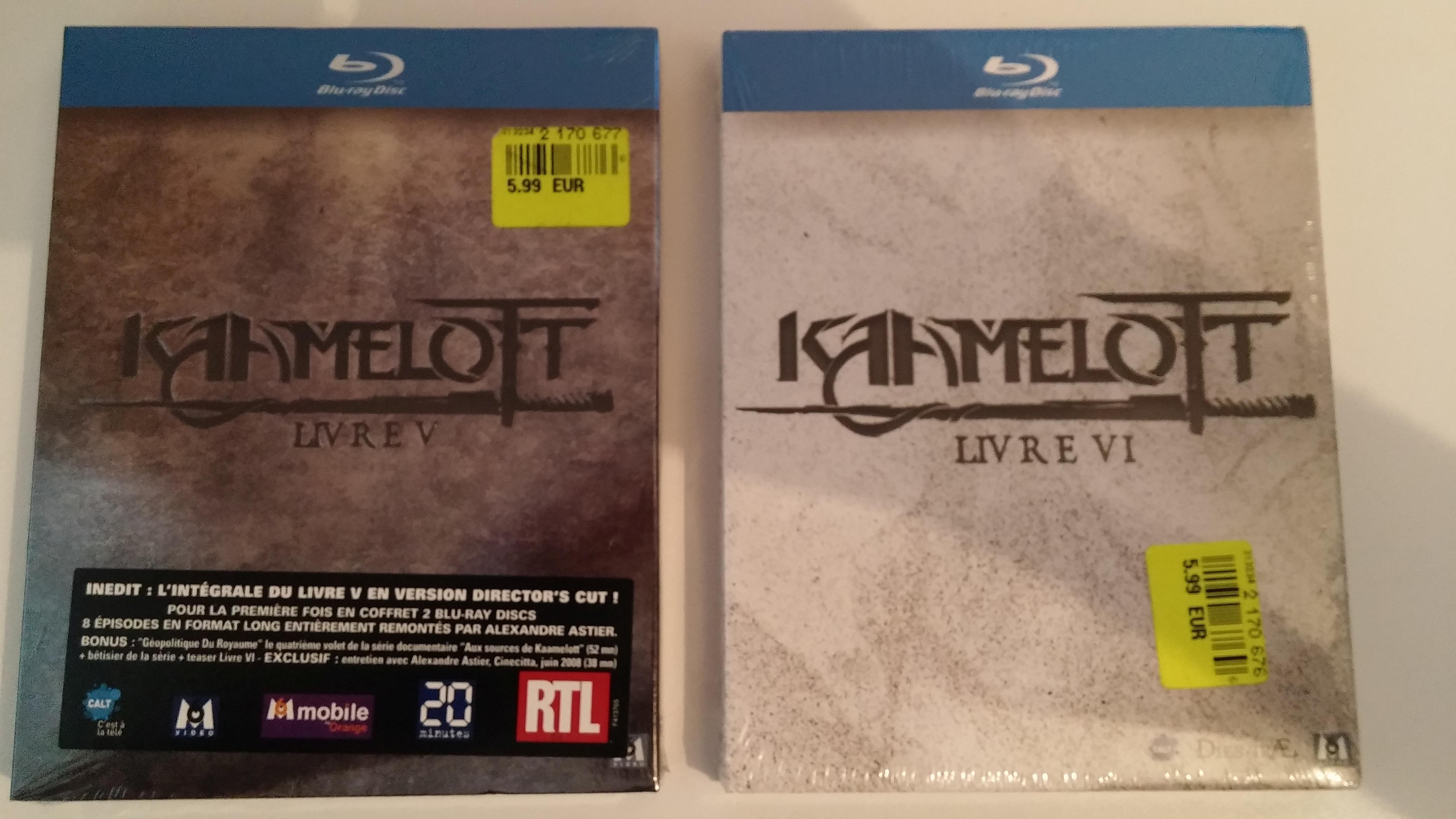 Coffrets Blu-ray Kaamelott Saison V et VI à l'unité