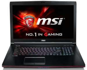 "PC Portable 17"" MSI GE72 2QF-064XFR Apache Pro - i7 4720HQ, GeForce GTX 970M, 8Go RAM, SSD 128Go"
