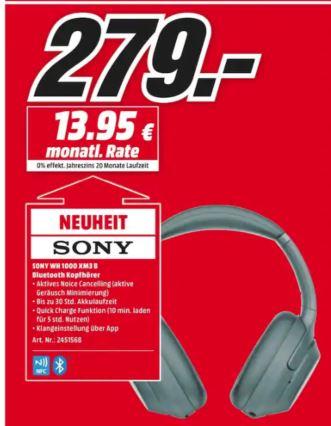 Casque audio sans-fil à réduction de bruit Sony WH-1000XM3 (Frontaliers Allemagne)