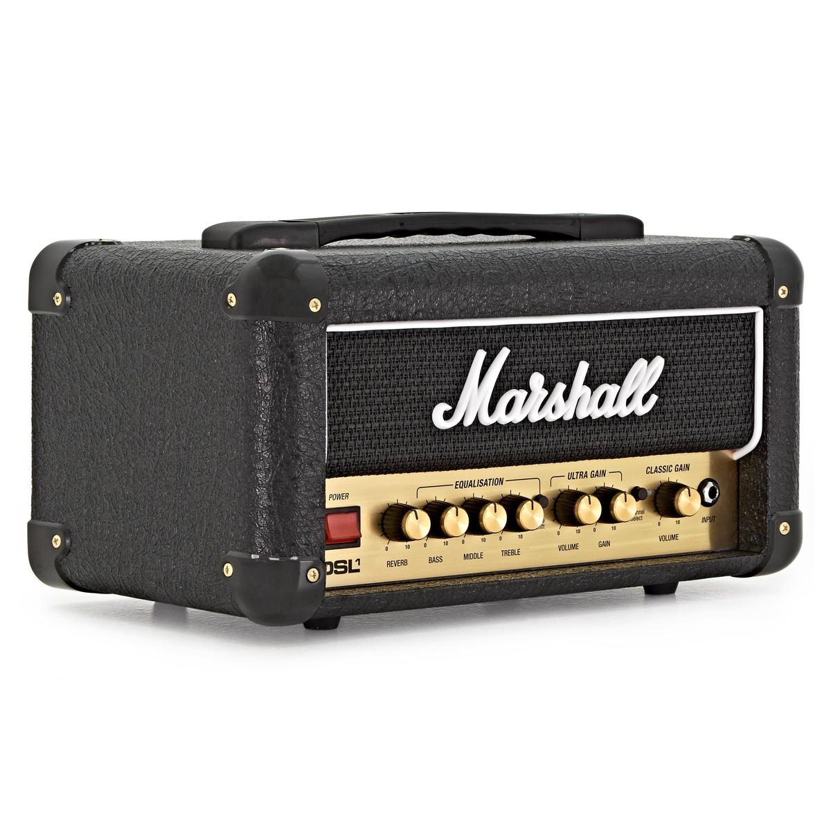 Tête d'ampli guitare à lampes Marshall DSL1HR 1W