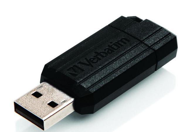 Clé USB Drive 2.0 Verbatim Pinstripe - 64 Go